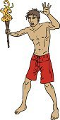 Flaming Torch,Holding,Men,Sport,Athlete,Clip Art,Fire - Natural Phenomenon,Muscular Build,Cartoon,Vector,Leadership,Computer Graphic,Ilustration,Male,Red,Competitive Sport,People,Sports And Fitness,Illustrations And Vector Art,Light - Natural Phenomenon