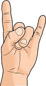 Human Hand,Devil,Rock and Roll,Metal,Human Finger,Gesturing,Communication,Actions,Isolated Objects,Concepts And Ideas