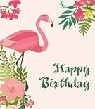Happiness,Nature,Cheerful,Birthday,Bird,Summer,Cards,Frame,Greeting Card,Illustration,Inviting,Vector,Retro Styled,Invitation,2015,111645