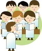 Choir,Singing,Cartoon,Group Of People,Musical Conductor,Vector,Ilustration,Reading,Brown,Green Color,White,Front View,Caucasian Ethnicity,Teens,Lifestyle,Vector Cartoons,White Background,Holidays And Celebrations,Christmas,Illustrations And Vector Art,Medium Group Of People,Computer Graphic,Standing,Backgrounds