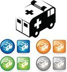 Ambulance,Emergency Sign,Urgency,Emergency Services,Van - Vehicle,Car,Healthcare And Medicine,Symbol,Computer Icon,Land Vehicle,Interface Icons,Rescue,Blue,Ilustration,Beauty And Health,Circle,Square Shape,Vector Icons,Silver Colored,Illustrations And Vector Art,Medicine And Science,Orange Color,Vector,Medicine,Medical,Green Color,Health Symbols/Metaphors,Gray