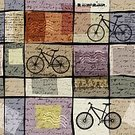 Continuity,Memories,Nostalgia,Bicycle,Pattern,Curve,Backgrounds,Repetition,Illustration,Vector,Backdrop,Urmas Paet,2015,Seamless Pattern