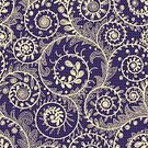 Blue,Pink Color,Purple,Yellow,Multi Colored,Pattern,Lace - Textile,Illustration,Floral Pattern,No People,Vector,Funky,Swirl,2015,Seamless Pattern