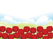 Blue,Red,Material,Sky,Plant Stem,Petal,Rose - Flower,Valentine's Day - Holiday,Illustration,No People,Vector,2015