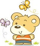 Baby,Cartoon,Teddy Bear,Kid Goat,Animal,Animated Cartoon,Butterfly - Insect,Cute,Drawing - Art Product,Childhood,Design,Vector,Ilustration,Little Boys,Playing,Insect,Drawing - Activity,Happiness,Fun,Blue,Smiling,Orange Color,Purple,Enjoyment,Animals And Pets,Illustrations And Vector Art,Nature,t-shirt design,Wild Animals,Harmony,Vector Cartoons,Outdoors,Painted Image,Grass