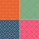 Computer Graphics,Set,Square,Digitally Generated Image,Green Color,Orange Color,Pink Color,Purple,Multi Colored,Pattern,Decoration,Backgrounds,Computer Graphic,Outline,Illustration,Psychedelic,Group Of Objects,Vector,Retro Styled,2015,Retro Colours,Design Element,Seamless Pattern,268399