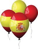 Spain,Spanish Flag,Balloon,Flag,Party - Social Event,Coat Of Arms,Window,Concepts And Ideas,Illustrations And Vector Art,Shiny,Holidays And Celebrations,Celebration,Vector,Helium Balloon,Yellow,Red