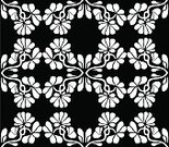 Shape,Black Color,White Color,Flower,Backgrounds,Illustration,Textured,No People,Vector,2015,Seamless Pattern