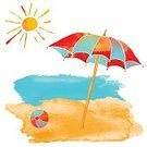 Sun,Landscape,Close-up,Ball,Paint,Paintings,Colors,Blue,Orange Color,Red,Yellow,Spotted,Tropical Climate,Water,Sun,Summer,Wave,Landscape,Island,Sand,Sunbeam,Sea,Beach,Sunlight,Backgrounds,Parasol,Art Product,Art And Craft,Art,Color Image,Watercolor Painting,Illustration,Watercolor Paints,Copy Space,Painted Image,Group Of Objects,Brush Stroke,No People,Vector,White Background,2015,Isolated,Sunny
