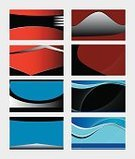 Large,Large,Business,Blue,Red,Pattern,Backgrounds,Business Card,Abstract,Illustration,Copy Space,Wave Pattern,No People,Vector,Collection,2015,Arts