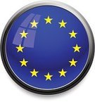 European Union Flag,European Union,Flag,Star Shape,Europe,Push Button,Sphere,Circle,Illuminated,Interface Icons,Symbol,Computer Icon,Religious Icon,Shiny,Single Object,Computer Graphic,Illustrations And Vector Art,Communication,Vector Icons,Technology,Concepts And Ideas,Window,Black Border,Vector,Frame,Reflection,Isolated