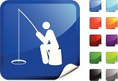 Ice Fishing,Fisherman,Fishing,Symbol,Computer Icon,Fishing Industry,Fishing Rod,Fishing Reel,Waiting,Stick Figure,Ilustration,Fishing Tackle,Label,Black Color,Sitting,Blue,Shiny,Design,Green Color,Digitally Generated Image,Purple,Vector,Computer Graphic,Red,Orange Color