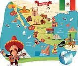 The Americas,North America,Mexican Ethnicity,Map,Mexico,Donkey,International Landmark,Leopard,Cultures,Toucan,Gulf of Mexico,Decoration,Mexico City,Acapulco,Cancun,Chihuahua - Mexico,Oaxaca,Puerto Vallarta,La Paz - Bolivia,Mexican Culture,Mexican Flag,Sombrero,City of Monterey - California,Kukulkan Pyramid,Tijuana,Illustration,Celebration,Cartoon,Vector,Tourism,Tampico,Travel,Mazatlan,Pinata,San Ignacio,Los Cabos,2015,103626,Travel locations,Mariachi,Monterey Peninsula