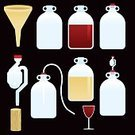 Funnel,Brewery,Winemaking,Wine,demijohn,Equipment,Airlock,Cork,Bottle,Symbol,Icon Set,Computer Icon,Glass - Material,Vector,Ilustration,Red Wine,Illustrations And Vector Art,Vector Ornaments,Food And Drink,Alcohol,Design Element,Wine Bottle,White Wine,Part Of,glass of wine