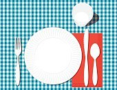 Tablecloth,Pancake,Checked Pattern,Poster,Place Setting,Illustration,Vector,Paper Plate,Billboard Posting,2015