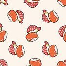 Food,Seafood,Asia,Lunch,Japan,Restaurant,Pattern,Cultures,Backgrounds,Menu,Sushi,Illustration,Meal,No People,Vector,Sashimi,2015,Japanese Food,Seamless Pattern