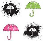Umbrella,Dirty,Pink Color,Parasol,Black Color,Symbol,Icon Set,Iconset,Religious Icon,Ink,Vector Icons,Illustrations And Vector Art,Green Color,White,Grunge