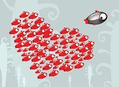 Fish,Love,School of Fish,Heart Shape,Fishing,Black Color,White,Pattern,Sea,Animal,Computer Graphic,Life,Pond,Ilustration,Group Of Animals,Horror,Water,Animated Cartoon,Backgrounds,River,Shape,Seaweed,Marines,Rear View,Fun,Characters,Red,Passion,Plant,Emotion,Colors,Elegance,Freshwater Fish,Decoration,Spawning,Deep,Court,Swimming Animal,Art,Desire,Wildlife,Curve,Turquoise,Valentine's Day,Illustrations And Vector Art,Holidays And Celebrations,Vector Backgrounds,Vector Cartoons