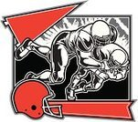 American Football - Sport,Pennant,Sport,Football Helmet,Tackling,Banner,Vector,Success,Human Muscle,Design,Placard,Muscular Build,Winning,Ilustration,Competition,Aggression,Sports Uniform,Vector Cartoons,Illustrations And Vector Art,Isolated Objects,Isolated,Speed,Team Sports,Scoring,Confidence,White Background,Sports And Fitness,Competitive Sport