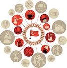 Carpet - Decor,Hat,Flag,Europe,Asia,Composite Image,Image Montage,Mustache,Dancing,Turkey - Middle East,Hot Air Balloon,Old Ruin,Coffee - Drink,Statue,Mosque,International Landmark,Cultures,Silhouette,Cappadocia,Istanbul,Blue Mosque,Backgrounds,Computer Icon,Coffee Pot,Fez - Hat,Ottoman Empire,Illustration,Belly Dancer,Nemrud Dagh,Dancer,Vector,Arabic Style,Travel,Hookah,Byzantine,2015,103626,Icon Set,81200