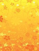 Backgrounds,Summer,Flower,Yellow,Single Flower,Floral Pattern,Orange Color,Swirl,Abstract,Pattern,Gold Colored,Funky,Springtime,Vector,Wallpaper Pattern,Multi Colored,Retro Revival,1940-1980 Retro-Styled Imagery,Happiness,Scroll Shape,Digitally Generated Image,Beauty,Freshness,Nature,Design,Growth,Heat - Temperature,Morning,Leaf,Ilustration,Page,Ornate,Deep,Decoration,Complexity,Painted Image,Elegance,Paint,Curve,Beauty In Nature,Intricacy,Vector Ornaments,Botany,Vector Florals,Plant,Illustrations And Vector Art,Vector Backgrounds
