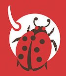 Food,Vertical,Animal,Insect,Red,Beetle,Fruit,Ladybug,Illustration,Pop Art,One Animal,No People,Healthy Eating,Colored Background,2015,88247,Red Background
