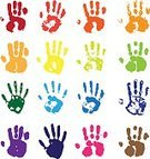 Handprint,Human Hand,Paint,Rainbow,Finger Painting,Spray,Vector,Human Finger,Silhouette,Ink,People,Multi Colored,Symbol,Identity,One Person,Illustrations And Vector Art
