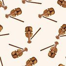 Equipment,Symbol,Orchestra,Violin,Pattern,Backgrounds,Jazz Music,Illustration,No People,Vector,2015,Seamless Pattern