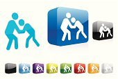 Wrestling,Symbol,Computer Icon,Stick Figure,Vector,Three-dimensional Shape,Computer,Shadow,Modern,Shiny,Isolated On White,Blue,People,Illustrations And Vector Art,Series,Sports And Fitness,Vector Icons,Web 2 0,Ilustration,Elegance,Color Image,Red