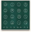 Emotion,Smiley Face,Chalk Drawing,Blackboard,Emoticon,Human Face,Symbol,Computer Icon,Icon Set,Education,Religious Icon,Facial Expression,Sadness,Cheerful,Happiness,Depression - Sadness,Drawing - Activity,Displeased,Learning,Vector,Single Line,Anger,Illness,Fear,Art,Communication,Ilustration,Evil,Global Communications,Laughing,In A Row,Green Color,Hungry,Furious,Sign,Writing,Heat - Temperature,Tired,University,Message,White,Sign Language,Joy,Announcement Message,Concepts And Ideas,Nostalgia,Illustrations And Vector Art,People,Communication,Vector Icons