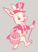 Line Art,Personal Accessory,woodland animal,Animal,Pop Art,Cheerful,Cap,No People,Top Hat,Illustration,One Animal,Cap,2015,Joy,Easter,Smiling,Basket,Striding,Facial Expression,Season,Hat,Forest Animal,Holding,Carrying,Vector,Walking,Springtime,Emotion