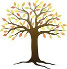 Tree,Root,Autumn,Leaf,Branch,Vector,Single Object,Green Color,Cut Out,Multi Colored,Yellow,White Background,Isolated,Color Image,No People,Orange Color,Ilustration,Color Gradient,Red,Illustrations And Vector Art,Isolated On White,Plant,Nature