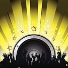 Speaker,Computer Graphics,People,Recreational Pursuit,Crowd,Party - Social Event,Yellow,Star Shape,Backgrounds,Spectator,Computer Graphic,Music,Illustration,Vector,Speaker,Background,2015,eps10