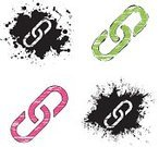 Chain,Connection,Grunge,Dirty,Pink Color,Symbol,Icon Set,Black Color,Iconset,Ink,White,Religious Icon,Vector Icons,Green Color,Illustrations And Vector Art