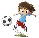 Child,White Background,Ball,Cut Out,Sport,Animated Cartoon,Horizontal,Photography,Cheerful,Kids' Soccer,Drawing - Art Product,Soccer Player,Soccer,Playing,Soccer Shoe,Sports Team,Soccer Ball,2015,Jumping