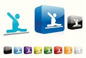 Gymnastics,Stick Figure,Floor Gymnastics,Symbol,Three-dimensional Shape,Shadow,Shiny,Blue,Red,People,Elegance,Illustrations And Vector Art,Isolated On White,Modern,Series,Web 2 0,Sports And Fitness,Vector Icons,Computer,Vector,Color Image,Ilustration,Computer Icon