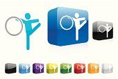 Gymnastics,Rhythmic Gymnastics,Stick Figure,Symbol,Three-dimensional Shape,Vector,Modern,Blue,Shiny,People,Red,Illustrations And Vector Art,Isolated On White,Shadow,Ilustration,Web 2 0,Sports And Fitness,Vector Icons,Computer,Series,Computer Icon,Color Image,Elegance