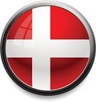 Danish Flag,Flag,Push Button,Symbol,Religious Icon,Vector,Computer Icon,Shiny,White,Red,Vector Icons,Sphere,Illustrations And Vector Art,Isolated,Reflection,Single Object,Communication,Technology,Concepts And Ideas,Black Border,Illuminated,Computer Graphic,Circle