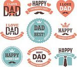 Love,Happiness,Symbol,Sign,Necktie,Mustache,Cheerful,Design,Label,Father,Blue,Red,White Color,Decoration,Computer Icon,Heart Shape,Greeting Card,Crown,Winning,Illustration,Celebration,Vector,Typescript,Father's Day,White Background,Holiday - Event,2015