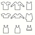 Clothing,Symbol,Tee,Outline,Illustration,Template,No People,Vector,Fashion,Collection,Letter T,Shirt,2015,Icon Set