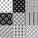 Black And White,Pattern,Grid,Backgrounds,Repetition,Illustration,No People,Vector,Geometric Shape,2015,Seamless Pattern