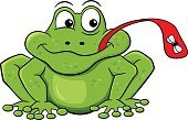 Bizarre,Humor,Animal Wildlife,Hunting,Animals Hunting,Animal,Sitting,Smiling,Animal Tongue,Catching,Amphibian,Insect,Green Color,Fly,Frog,Toad,Animal Mouth,Licking,Cut Out,Cute,Hungry,Illustration,Cartoon,Vector,Characters,Froggy,White Background,2015