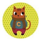 Symbol,Toy,Nature,Animal,Zoo,Cute,Illustration,No People,Vector,2015,cute cat,Animal Illustration,Winter Wearing