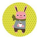Symbol,Toy,Nature,Animal,Zoo,Cute,Illustration,No People,Vector,2015,Animal Illustration,Cute Rabbit,Winter Wearing