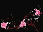 Orchid,Vector,Design,Backgrounds,Ilustration,Flower,Computer Graphic,Abstract,Clip Art,Creativity,Elegance,Vector Florals,Arts Backgrounds,Ornate,Illustrations And Vector Art,Arts And Entertainment