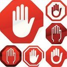 Stop,Human Hand,Stop Sign,Stop Gesture,Symbol,Religious Icon,Computer Icon,Forbidden,Waiting,Vector,Warning Sign,Label,Push Button,Ilustration,Road Warning Sign,Interface Icons,Variation,Vector Icons,Illustrations And Vector Art,Metallic