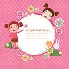Birthday,Spotted,Plan,Child,Greeting Card,Ornate,Congratulating,Illustration,Inviting,Template,Girls,Vector,Invitation,Background,2015,Plan