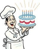 Baker,Chef,Cake,Birthday Cake,Bakery,Birthday,Surprise,Party - Social Event,Candle,Men,Anniversary,Incentive,Dessert,People,Event,Cheerful,Joy,Celebration,Icing,Happiness