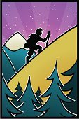 Hiking,Mountain,Silhouette,Cartoon,Mountain Range,Tree,Walking,Hill,Forest,Men,Outline,People,Animated Cartoon,Nature,Vector,Sport,Back Lit,Exercising,Relaxation Exercise,Hiking Pole,Coniferous Tree,Green Color,Stick - Plant Part,Star - Space,triad,Design,Gold Colored,Environmentalist,Turquoise,Snowcapped,Male,Ilustration,Manga Style,Night,Environment,Cane,Uncultivated,Yellow,Young Adult,Purple,Blue,poster art,Dusk,Pink Color,Beauty And Health,Illustrations And Vector Art,Color Gradient,Nature,Nature Backgrounds,Exercise,Vector Backgrounds,Multiple Exposure
