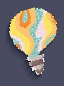 Computer Graphics,Creativity,Technology,Electric Lamp,Brochure,Shape,Circle,Pattern,Spotted,Greeting,Decoration,Backgrounds,Computer Graphic,Light Bulb,Millennium,Abstract,Illustration,Pixelated,No People,Vector,Geometric Shape,2015,21st Century,Techno